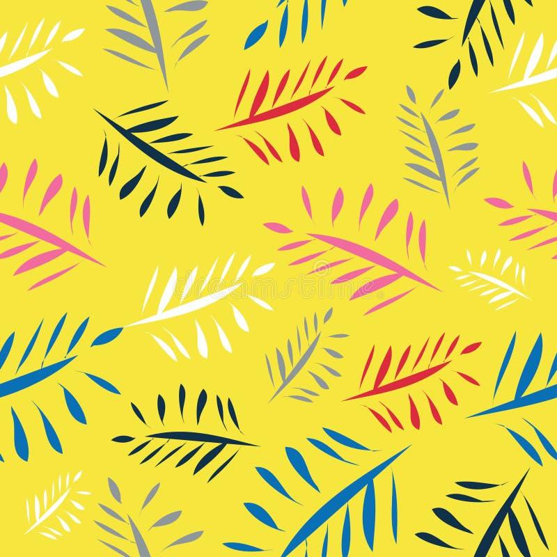 Pittura variopinta del fondo luminoso delle foglie illustrazione vettoriale