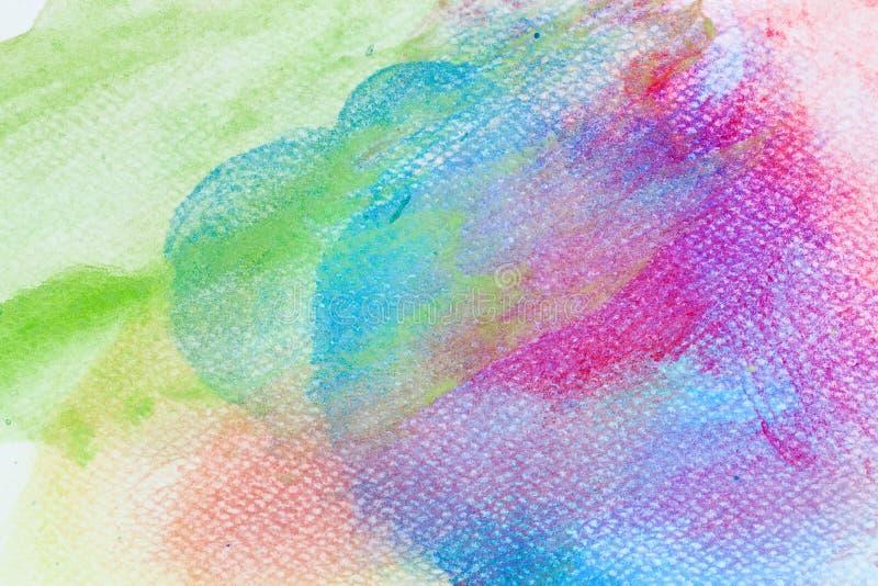 Pittura variopinta dell'acquerello su tela Alta risoluzione e fondo eccellenti di qualità illustrazione vettoriale