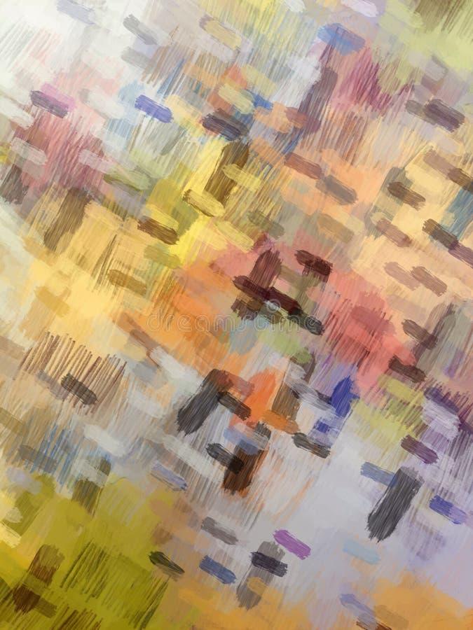 Pittura variopinta della spazzola del fondo astratto fotografie stock