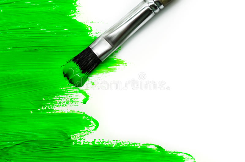 Pittura verde fotografia stock libera da diritti