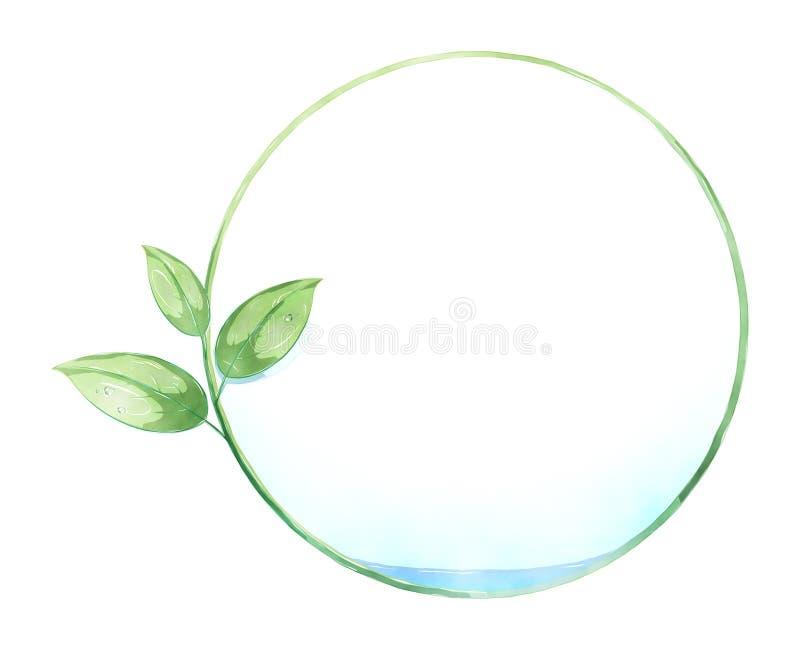 Pittura verde del cerchio della foglia illustrazione di stock