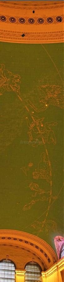 Pittura verticale del soffitto delle costellazioni fotografia stock