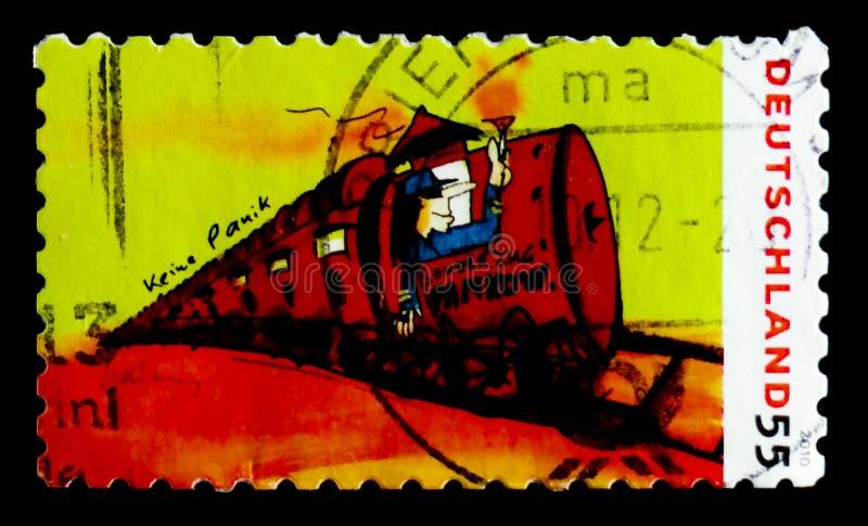 Pitture da Udo Lindenberg: treno speciale a Pankow, serie, circa 2010 fotografia stock