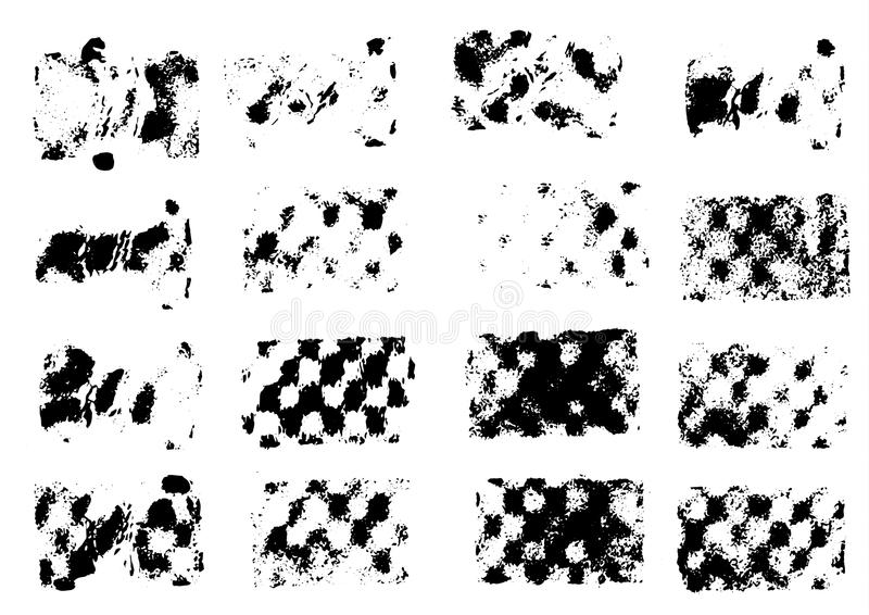 Pitture del disegno di vettore Strisce, stampe di lerciume illustrazione vettoriale