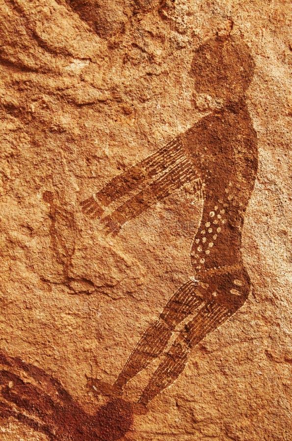 Pitture della roccia di Tassili N'Ajjer, Algeria fotografie stock libere da diritti