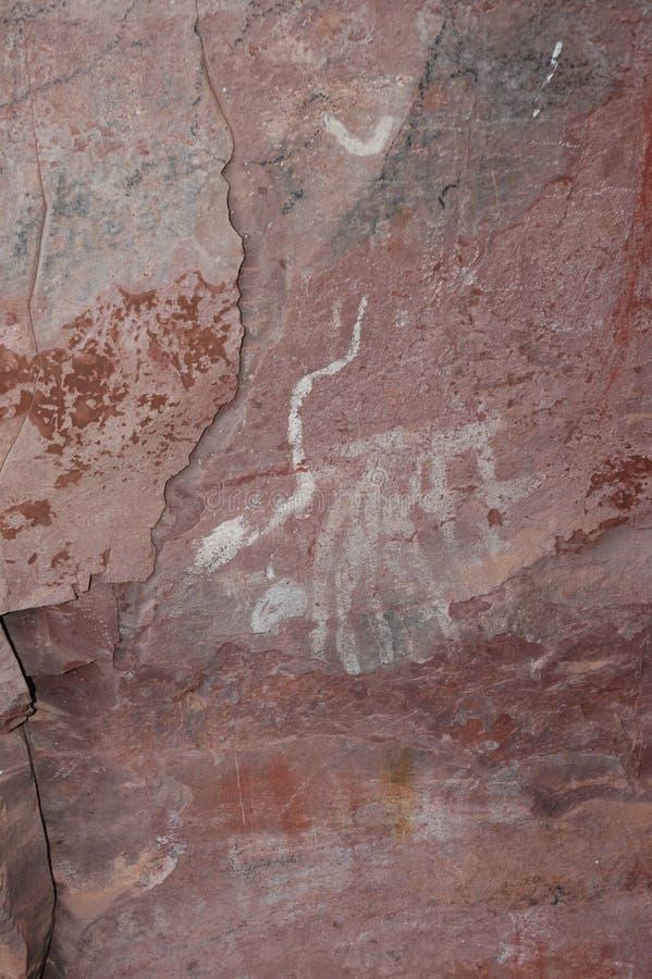 Pitture di caverna dell'Arizona fotografie stock