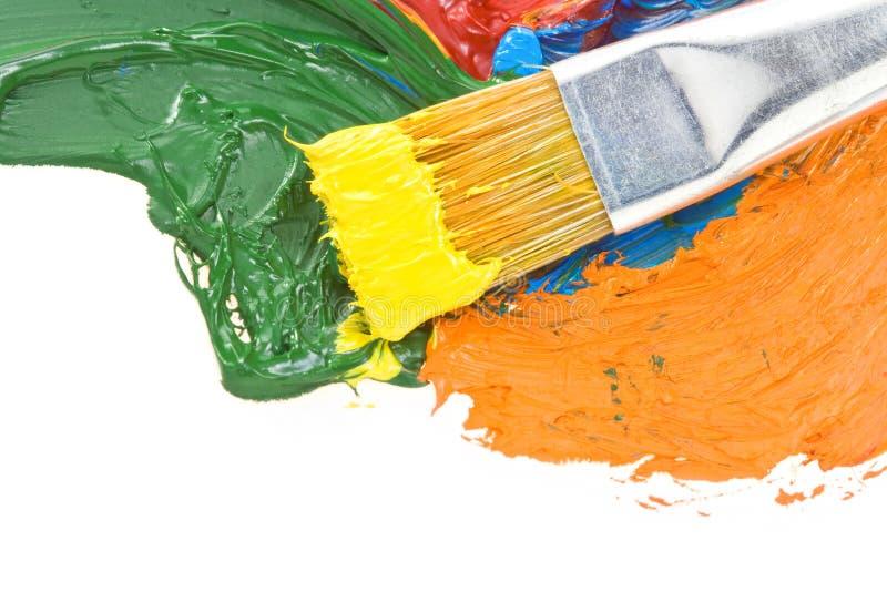 Download Pitture Di Colore E Della Spazzola Su Bianco Fotografia Stock - Immagine di verde, pigmento: 30826368