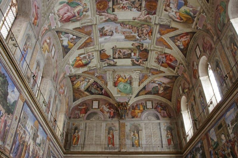 Pitture di Michelangelo fotografia stock
