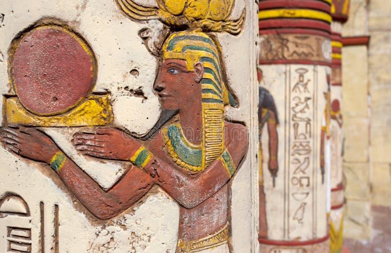 Pitture di parete egiziane fotografie stock libere da diritti