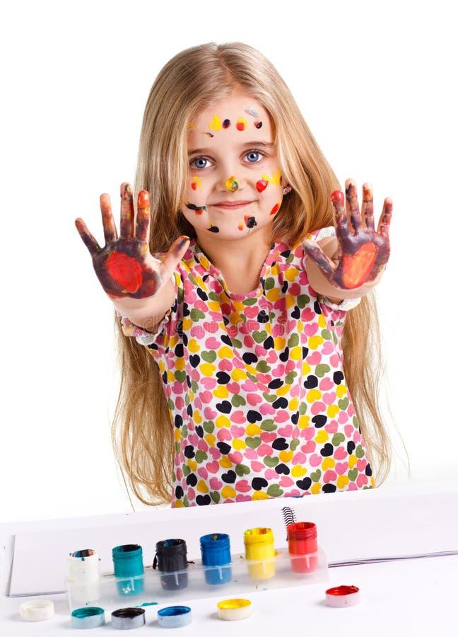 Pitture dipinte ragazza immagini stock