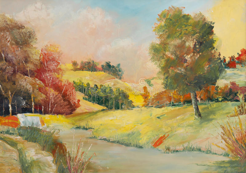 Pitture a olio fotografia stock