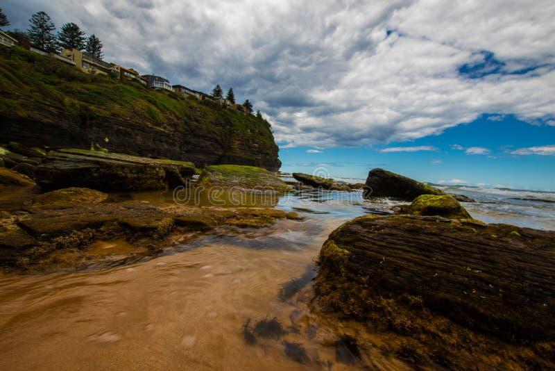 Pittwater, verano 2017 de la serie de la playa fotografía de archivo
