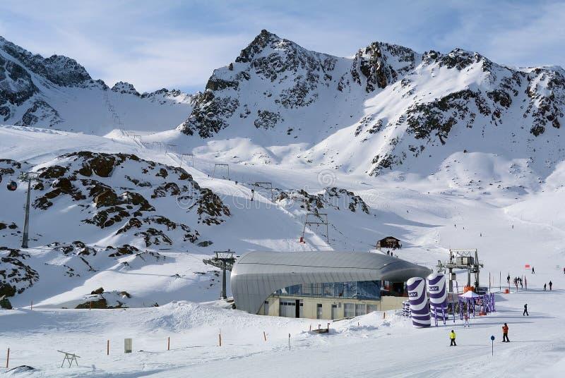 Pitztal Ski Resort, Tirol, Oostenrijk royalty-vrije stock afbeelding