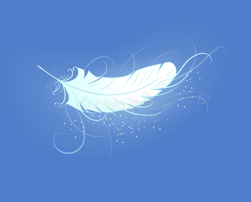 Piuma del ange illustrazione di stock