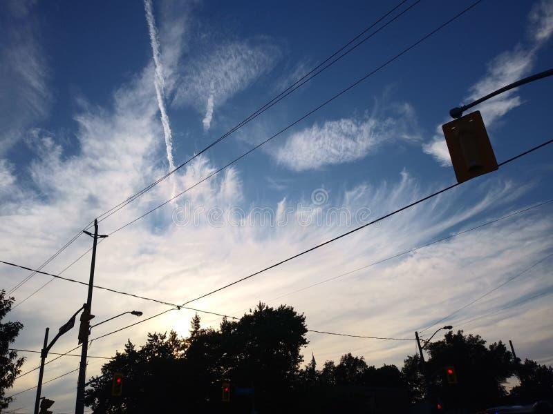 Piume del cielo fotografia stock