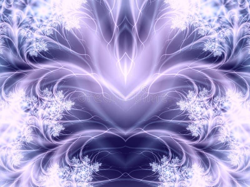 Piume Wispy bianche delle onde illustrazione vettoriale