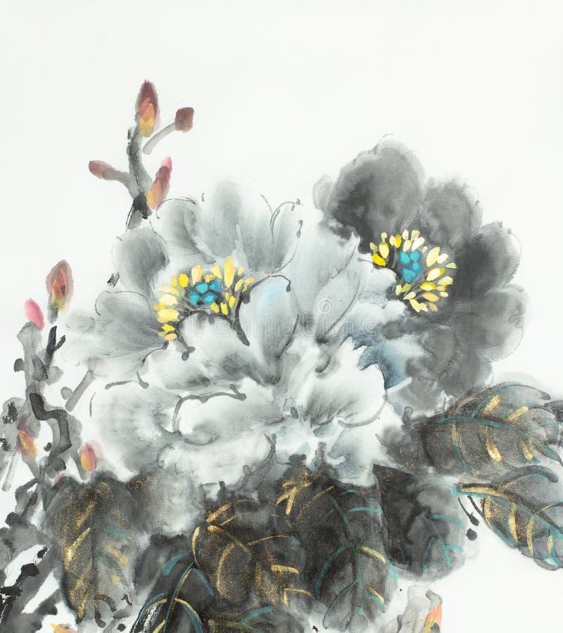 Pivoine légère lumineuse illustration stock