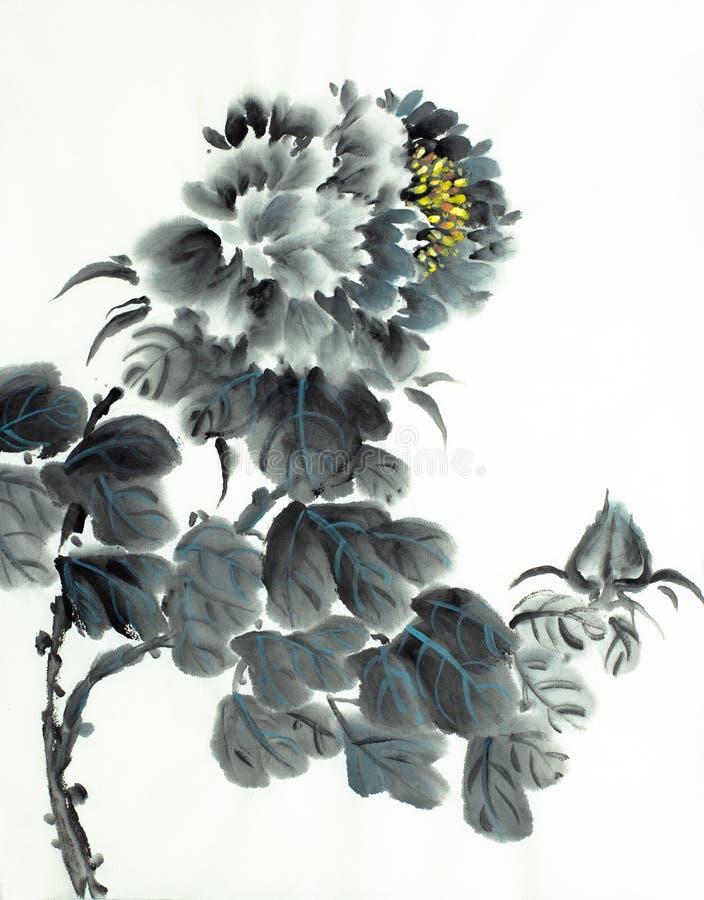 Pivoine noire douce illustration libre de droits