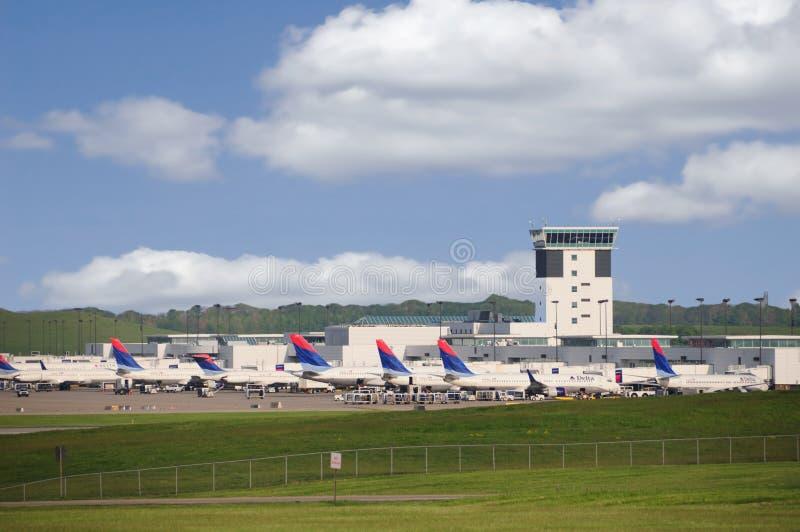 Pivot de CVG Delta Airlines images libres de droits