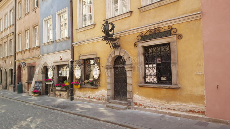 Piwna街道在华沙 免版税库存照片