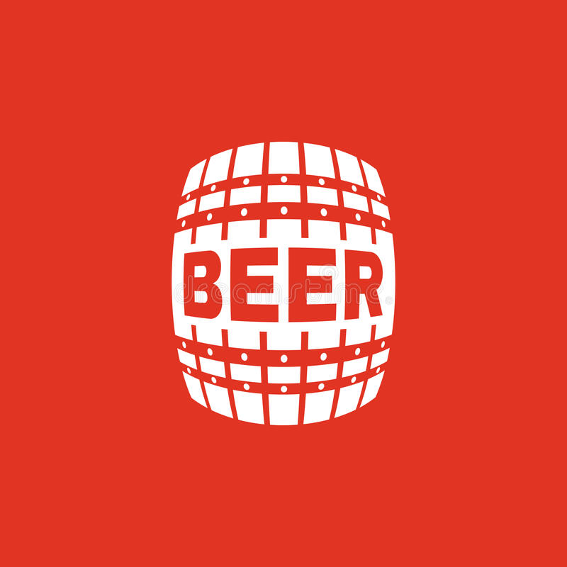 Piwna ikona Beczka i baryłka, alkohol, Piwny symbol Ui Sieć logo Znak Płaski projekt app zapas royalty ilustracja