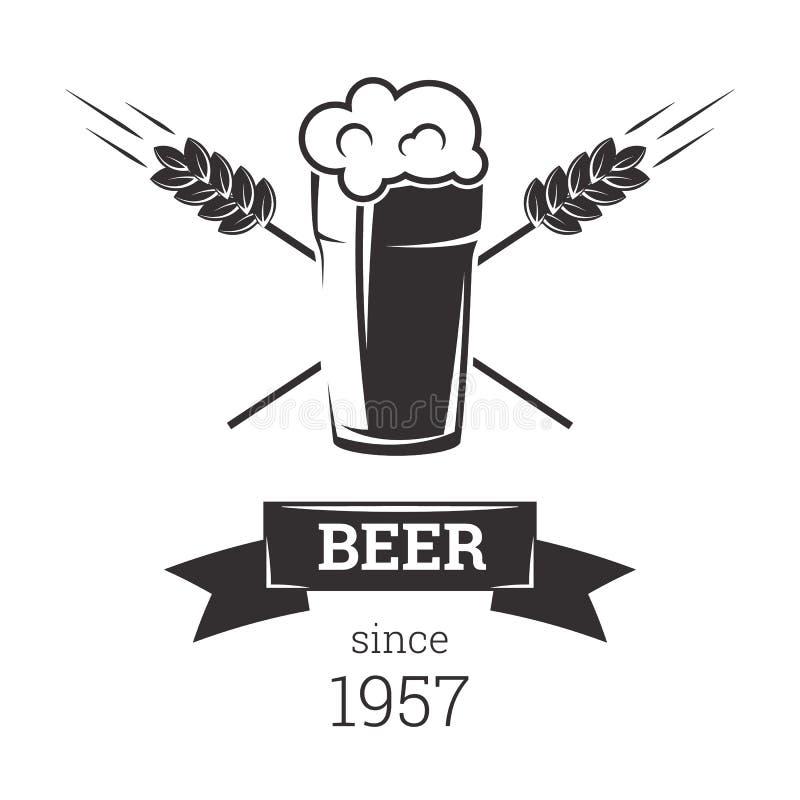Piwna insygni odznaka ilustracji