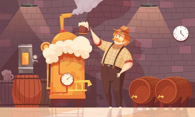 Piwna piwowara wektoru ilustracja royalty ilustracja