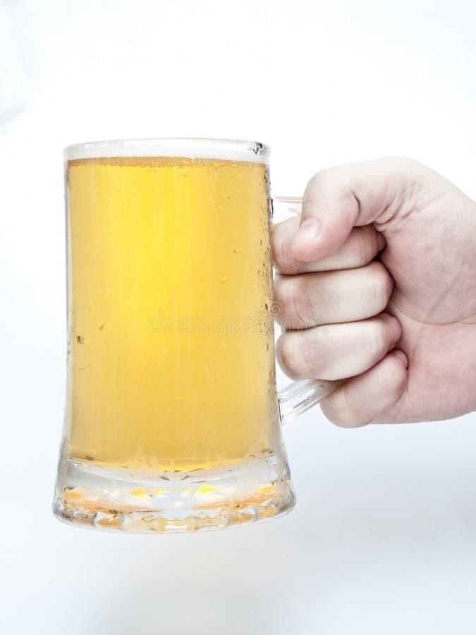 piwna ręka zdjęcie stock