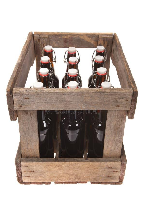 Piwna skrzynka zdjęcia royalty free