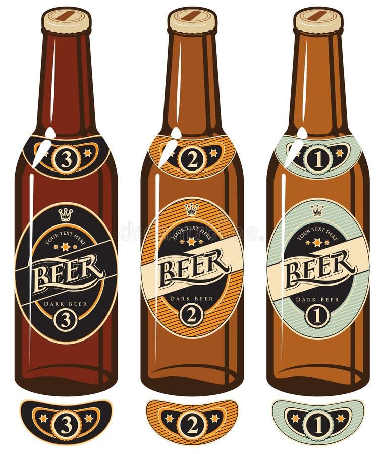 Piwne butelki royalty ilustracja