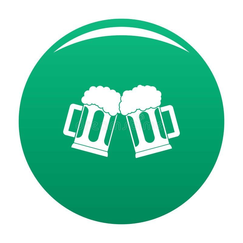 Piwnego kubka ikony wektoru zieleń ilustracji