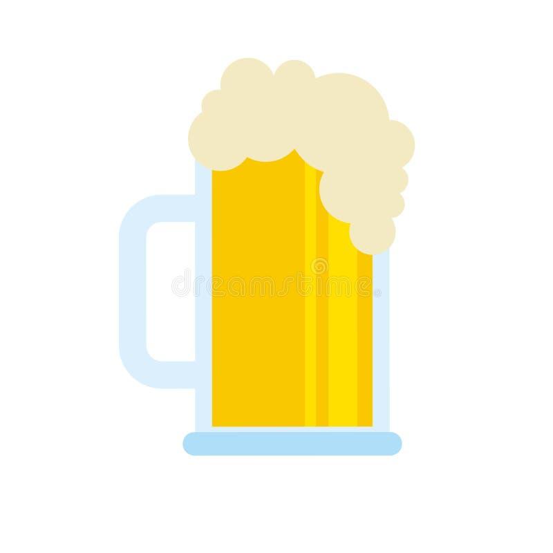 Piwnego szkła piany napoju zimno isolsted ilustracji