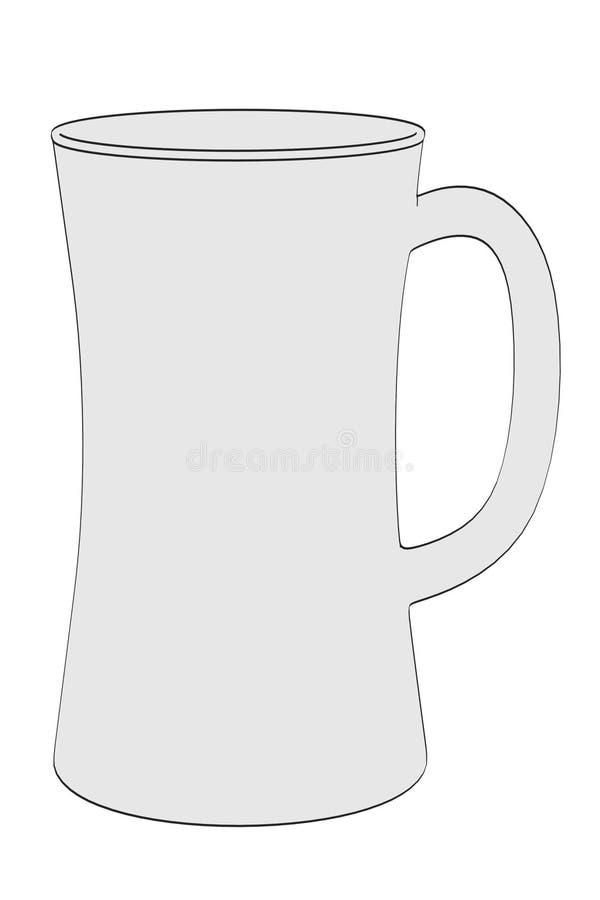 piwnego szkła odosobniony biel ilustracji
