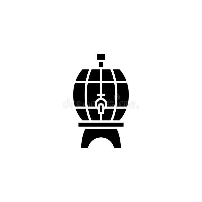 Piwnej baryłki czerni ikony pojęcie Piwnej baryłki płaski wektorowy symbol, znak, ilustracja ilustracja wektor