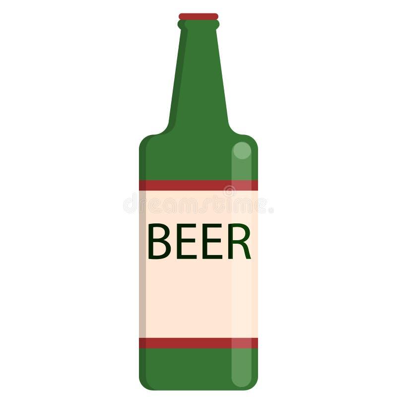 Piwnej butelki alkoholicznego napoju mieszkania ikona royalty ilustracja