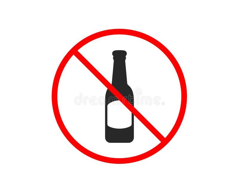 Piwnej butelki ikona Karczemny rzemiosła piwa znak wektor ilustracji