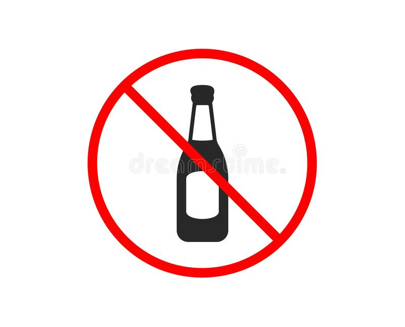 Piwnej butelki ikona Karczemny rzemiosła piwa znak wektor ilustracja wektor