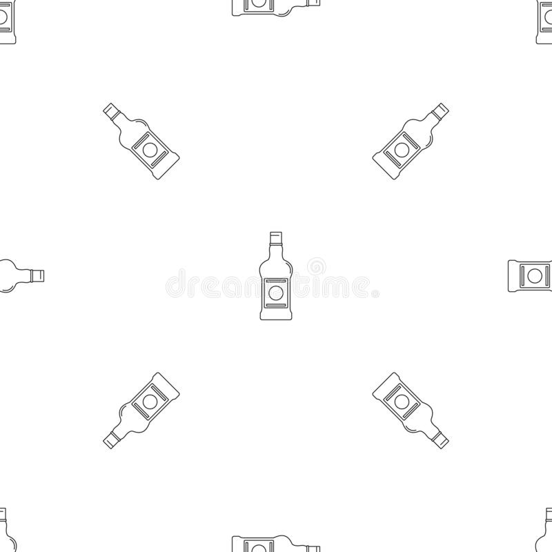 Piwnej butelki ikona, konturu styl ilustracji