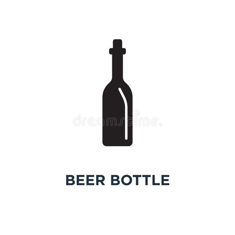 Piwnej butelki ikona Prosta element ilustracja Piwnej butelki conce ilustracja wektor