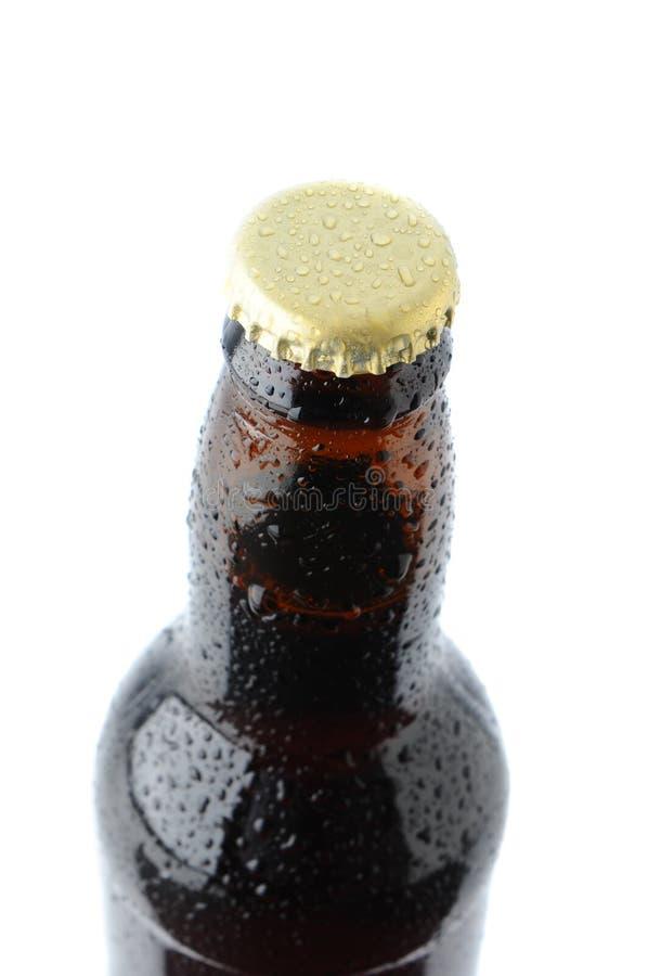 piwnej butelki nakrętki zbliżenia szyja obrazy stock