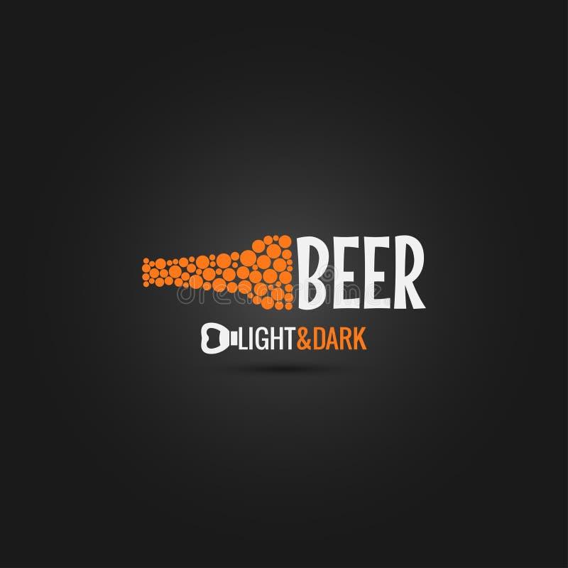 Piwnej butelki otwieracza projekta tło royalty ilustracja