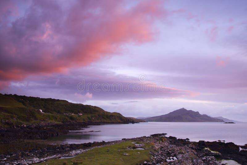 piwnica w szkockim wschodem słońca zdjęcie stock