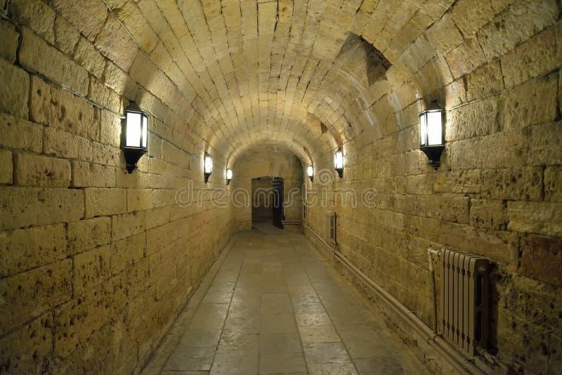 Piwnica z światłami w Dużym Gatchina pałac zdjęcia royalty free