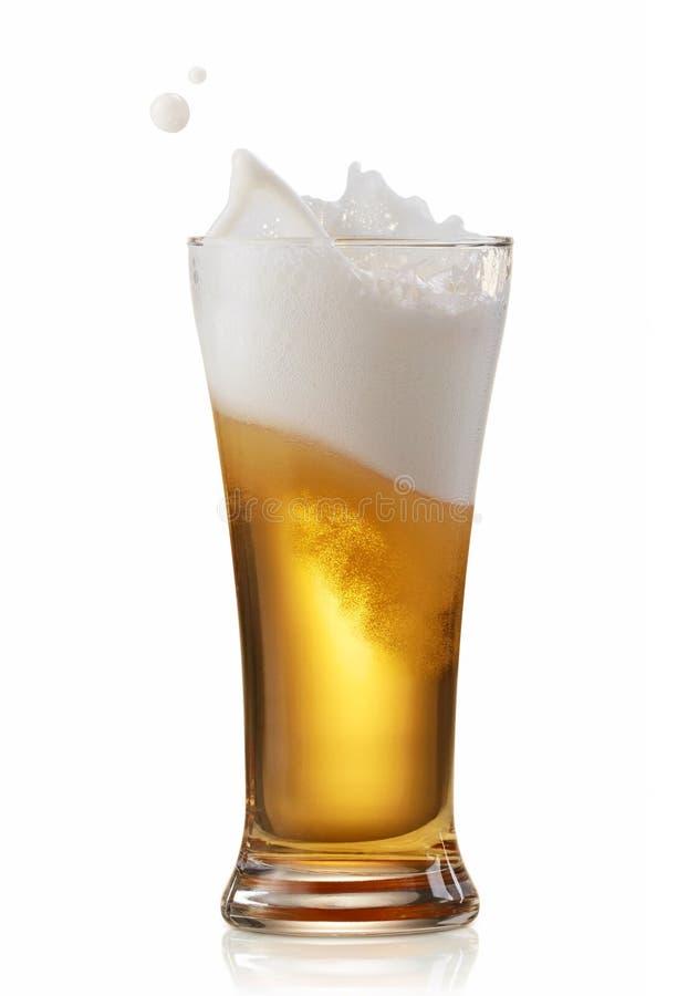 Piwny chełbotanie zdjęcia royalty free