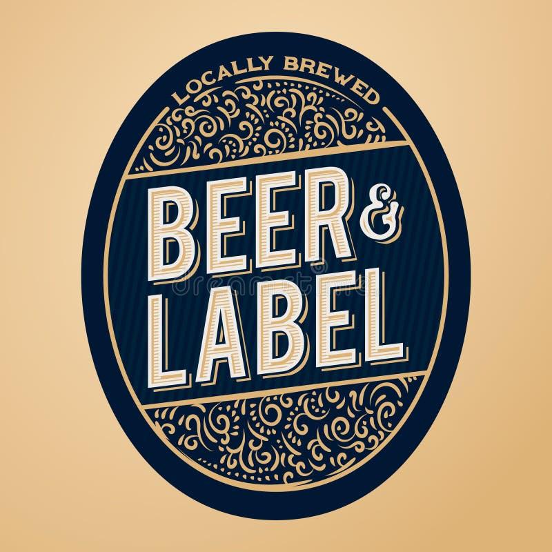 Piwny etykietki pojęcie dla butelek, sztandarów, reklam, piwa oznakować lub więcej, ilustracji