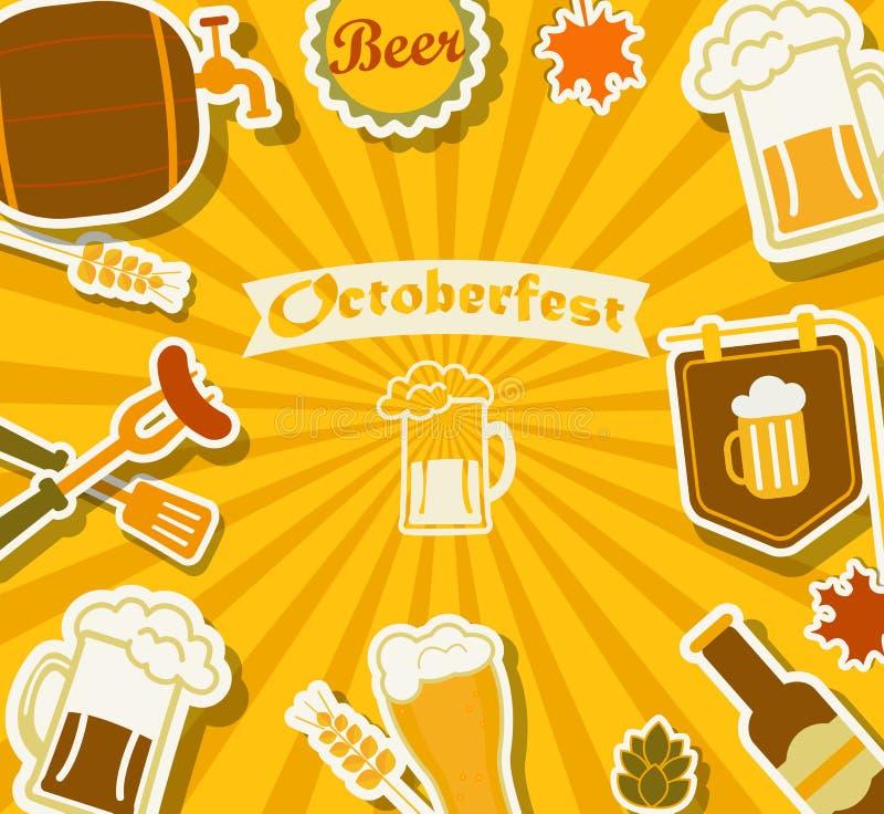 Piwny festiwal - Octoberfest royalty ilustracja