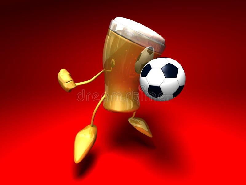 piwny futbol gra ilustracja wektor