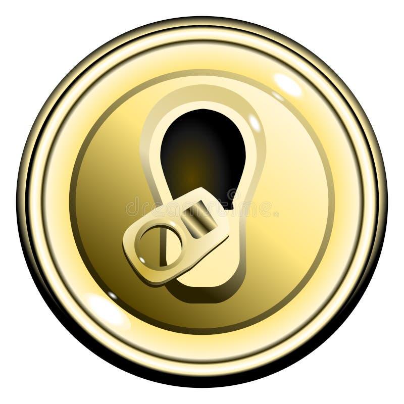 piwny guzik może złoto otwierający wierzchołka wektor ilustracji