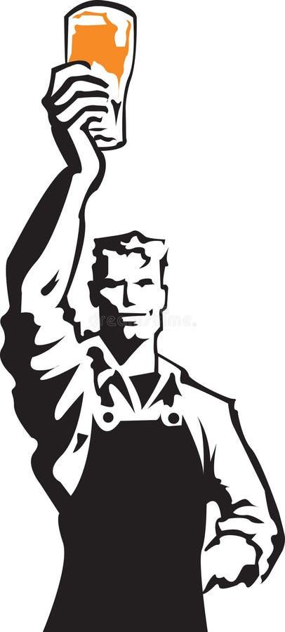 piwny mężczyzna ilustracji