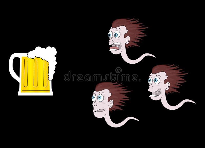 piwo śmieszny royalty ilustracja